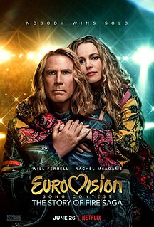 <i>Eurovision Song Contest: The Story of Fire Saga</i> 2020 film by David Dobkin based on the Eurovision Song Contest