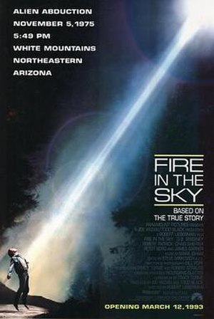 Fire in the Sky - Theatrical release poster