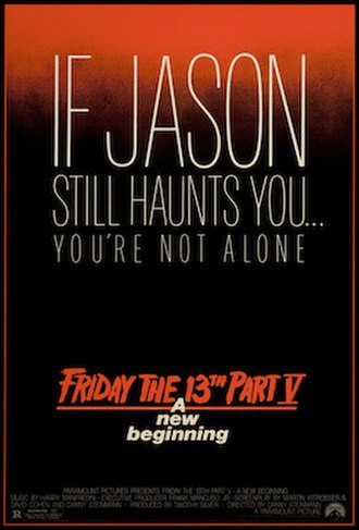 Friday the 13th: A New Beginning - Theatrical release poster