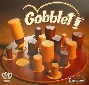 Gobblet - Cover of the Gobblet box.