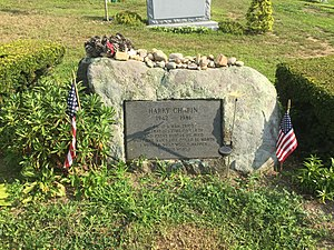 Harry Chapin - Harry Chapin's gravestone in the Huntington Rural Cemetery, Huntington, New York