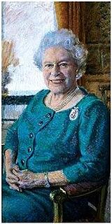 <i>Her Majesty Queen Elizabeth II – An 80th Birthday Portrait</i> painting by Rolf Harris