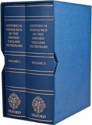 Historical Thesaurus of the Oxford English Dictionary - Image: Historical Thesaurus
