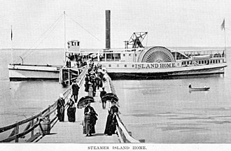 Island Home (steamboat) - Island Home circa 1895.