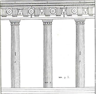 Vitruvian module - Doric Order, in Isaac Ware, The Four Books of Andrea Palladio's Architecture, London 1738
