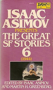 <i>Isaac Asimov Presents The Great SF Stories 6</i> (1944) book by A.E. van Vogt