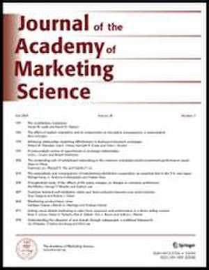 Journal of the Academy of Marketing Science - Image: JAMS cover (new)