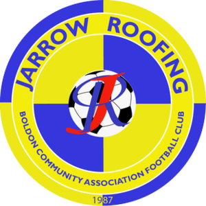 Jarrow Roofing Boldon Community Association F.C. - Image: Jarrow Roofing BCA FC club badge