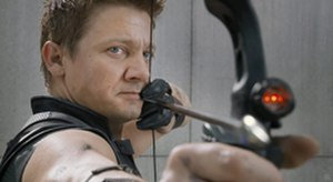 Hawkeye (comics) - Jeremy Renner as Hawkeye in The Avengers.
