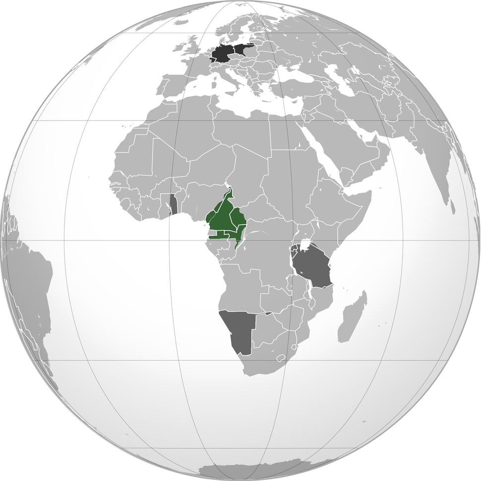 Location of Kamerun