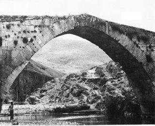 Karamagara Bridge Submerged bridge in Turkey