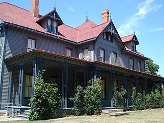 James A. Garfield National Historic Site - Garfield's home, restored to original color, 2007