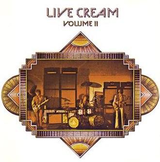 Live Cream Volume II - Image: Livecreamii