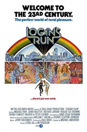 Logan's Run (film) - US theatrical release poster by Charles Moll