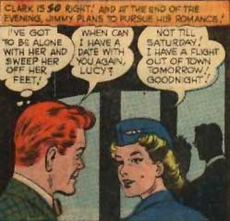 Lucy Lane - Jimmy Olsen and Lucy Lane, from her debut. Art by Curt Swan and John Giunta.