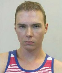German police mugshot of Magnotta taken following his arrest in Berlin.