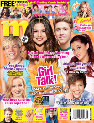 M Magazine - May 2014 issue featuring Dove Cameron, Ross Lynch, Selena Gomez, Niall Horan, Ariana Grande and Austin Mahone