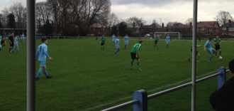 Non-League football - A non-League match between Maine Road and 1874 Northwich of the North West Counties Football League, part of the ninth level of English football.
