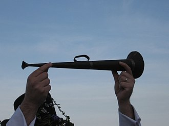 West Cornwall May Day celebrations - An original Mayhorn from the 1930s