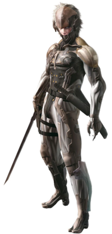 Raiden—a sinister-looking young man in battle gear