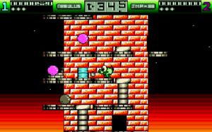 Nebulus (video game) - Screenshot from the Amiga version.