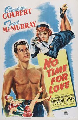 No Time for Love (1943 film) - Theatrical release poster