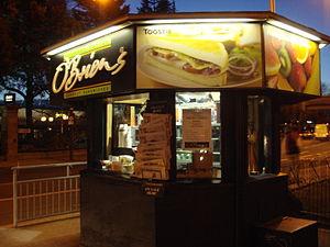 O'Briens Irish Sandwich Bars - O'Briens Irish Sandwich Cafe' Ballsbridge kiosk in Dublin, Ireland