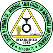 Official Seal of the Doctor Emilio B. Espinosa Senior Memorial State College of Agriculture and Technology, Masbate.png