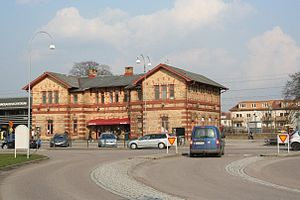 Kungsbacka - The old train station in Kungsbacka