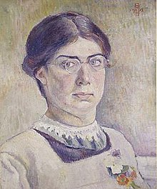 Self-portrait of Orovida Pissarro