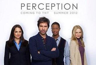 Perception (U.S. TV series) - The cast of Perception: (l–r) Rachael Leigh Cook, Eric McCormack, Arjay Smith and Kelly Rowan
