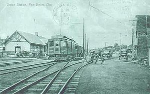 Port Dover, Ontario - Image: Port Dover ON Railway Station Late 1930s