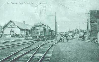 Union Station in Port Dover, circa late 1930s.