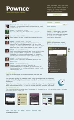 Pownce Website (2008 01 26).png