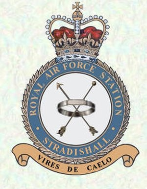 "RAF Stradishall - Latin: Vires de caelo (""Might from the sky"")"