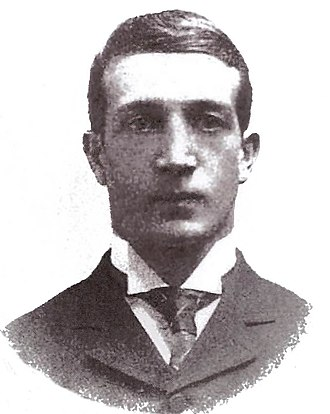 Roscoe Channing - Portrait of R.S. Channing from Walter Camp's 1894 book American Football