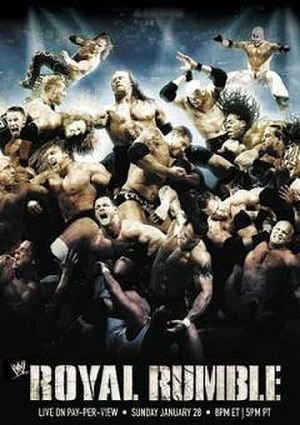 Royal Rumble (2007) - Promotional poster featuring various WWE wrestlers