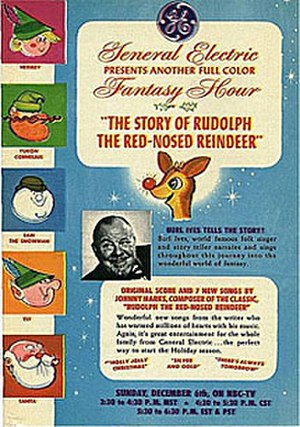 Rudolph the Red-Nosed Reindeer (TV special) - Promotional advertisement for the original NBC airing.