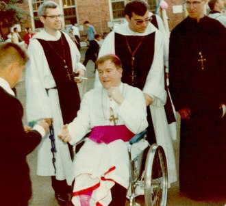 Francis Schuckardt - Schuckardt at Mount Saint Michael with several religious of the Congregation of Mary Immaculate Queen in August 1979