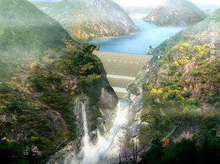 Shuangjiangkou Dam dam in Border of Maerkang County and Jinchuan County within Ngawa Tibetan and Qiang Autonomous Prefecture, Sichuan Province
