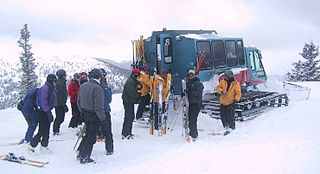 Ski lift Transport device that carries skiers up a hill