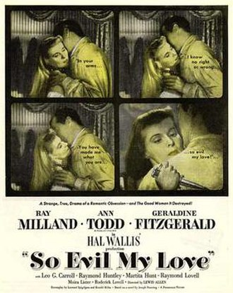 So Evil My Love - Theatrical release poster