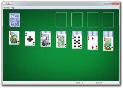 Picture of a game: Solitare