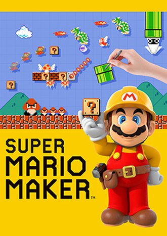 Super Mario Maker - Packaging artwork, depicting Mario wearing a construction worker outfit