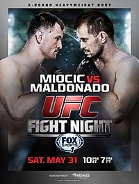 A poster or logo for The Ultimate Fighter Brazil 3 Finale: Miocic vs. Maldonado.