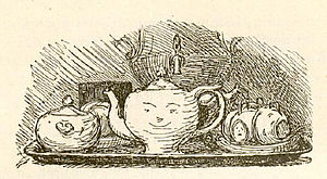 The Teapot - Illustration by Lorenz Frølich, an early illustrator of Andersen's works