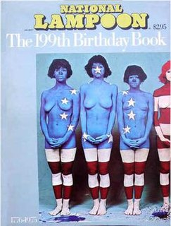 <i>National Lampoon The 199th Birthday Book</i> 1975 book from the National Lampoon magazine