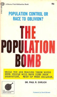 <i>The Population Bomb</i> Best-selling book written by Paul R. Ehrlich and Anne Ehrlich