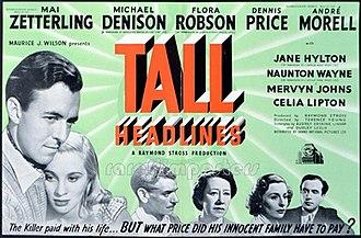 The Tall Headlines - Original British trade ad