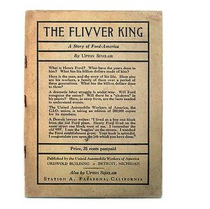 "The Flivver King - Cover of the 1st edition, 1st printing, Published by the UAW, Detroit, MI., 1937, ""Price 25 cents postpaid"""